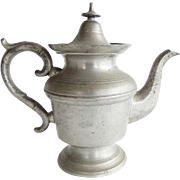 Antique 19th Century American Pewter Tea Pot