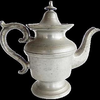 Antique 19th Century American Pewter Tea Pot