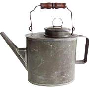 Antique Tin Primitive Tea Pot