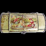 Antique Tin Lithographed Vasculum Botanical Box