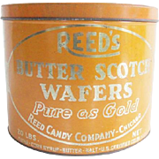 Vintage Reed's Butter Scotch Wafer Advertising Candy Tin