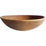 Antique Primitive Wooden Dough Bowl