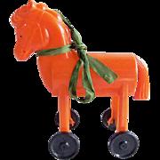 Vintage Rosbro Plastic Halloween Trojan Horse