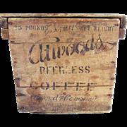 Antique Primitive Atwood Coffee Crate Minneapolis