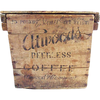 Antique Primitive Atwood Coffee Crate Minneapolis