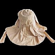 Early Brown Homespun Bonnet