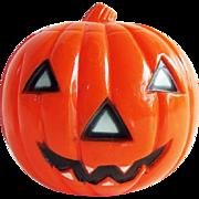 Vintage Halloween Hard Plastic Union Pumpkin JOL