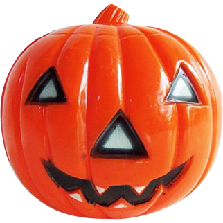 Vintage Halloween Hard Plastic Union Pumpkin JOL