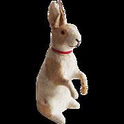 Antique German Cotton  Rabbit Candy Container