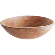 Antique Primitive Wooden Dough Bowl Large