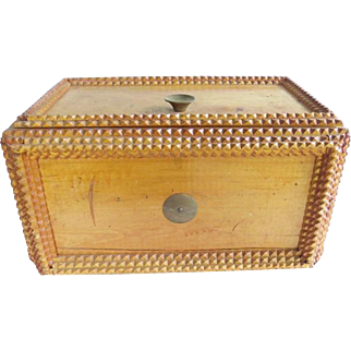 Vintage Tramp Art Sewing Box
