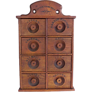 Antique 8 Drawers Spice Box Cabinet