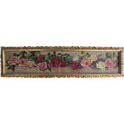 Original Oil on Canvas Painting ROSES Yard Long Framed