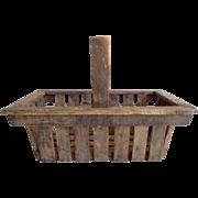 Old Wood Slat Garden Harvest  Trug Basket