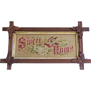 Antique Victorian Sampler Sweet Home Punch Paper Motto