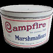 Campfire Marshmallow Advertising Tin Vintage