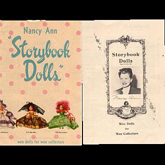 Nancy Ann Storybook Doll Brochures