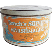 Vintage Brach's Marshmallow Advertising Tin