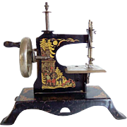 Antique Casige Toy Sewing Machine Hansel and Gretel