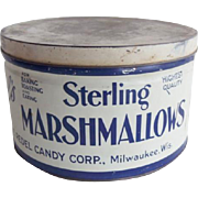 Sterling Marshmallow Advertising Tin Vintage