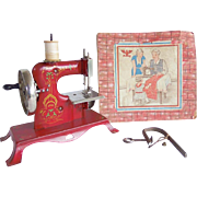 Antique Casige Toy Sewing Machine Tulips Germany