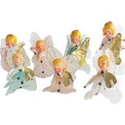 Vintage Christmas Mesh Wired Angel Musical Band Ornaments