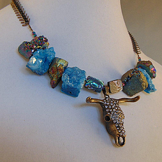 Blue Stones Little Bossy Necklace