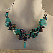 Sterling Silver Necklace with The Blues