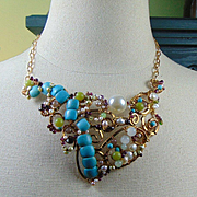 Brass Necklace with Everything