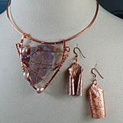 Copper Choker and Earring Set