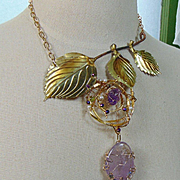 Amethyst on a Branch Necklace