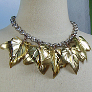 Leaves on a Chain Choker