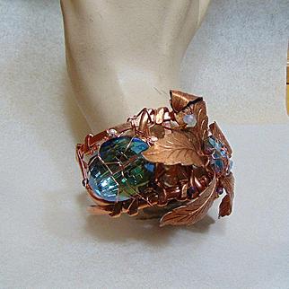 Copper and Crystals Bracelet
