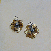Mixed Metal Earrings on Niobium Ear Wires