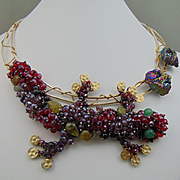 Diane's Great Horny Toad! Necklace and Earring Set