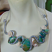 Mixed Metal Turquoise Necklace