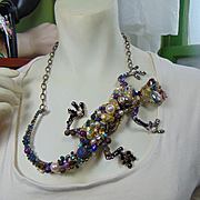 Big Lizard on Chain Necklace