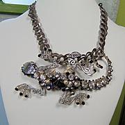 Mixed Metal Biker Lizard Necklace