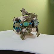 Leather Lizard Bracelet