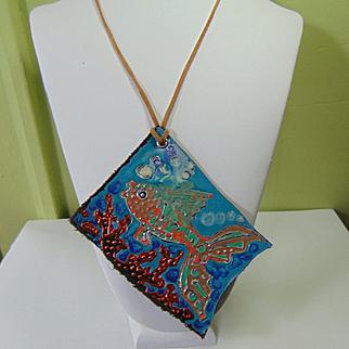 Portrait of a Fish Pendant Necklace