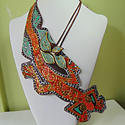 'Bandolier Lizard' Necklace.