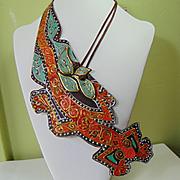 'Bandolier Lizard' Necklace.