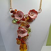 Multi-Media Amber Necklace
