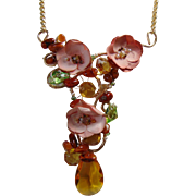 Multi-Media Amber Necklace