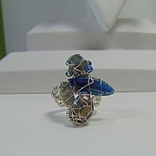 Sterling Silver Ring w Kyanite, Labradorite n Swarovski Crystals
