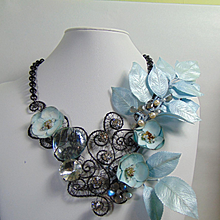 'A Little Drama' Mixed Media Necklace