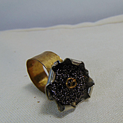 Mixed Metal Brutalist Flower Ring