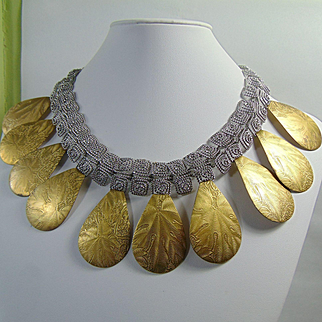 Neo Cleo Mixed Metal Collar Necklace