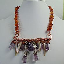 Amethyst n Copper on Amber