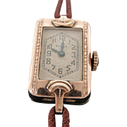 1929 Elgin Ladies Rose Gold Plated Wrist Watch